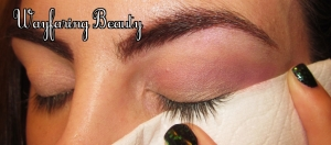 Have trouble getting a clean wing extension? Try using a folded tissue as a guide.