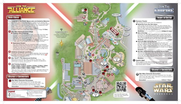 star wars weekend map