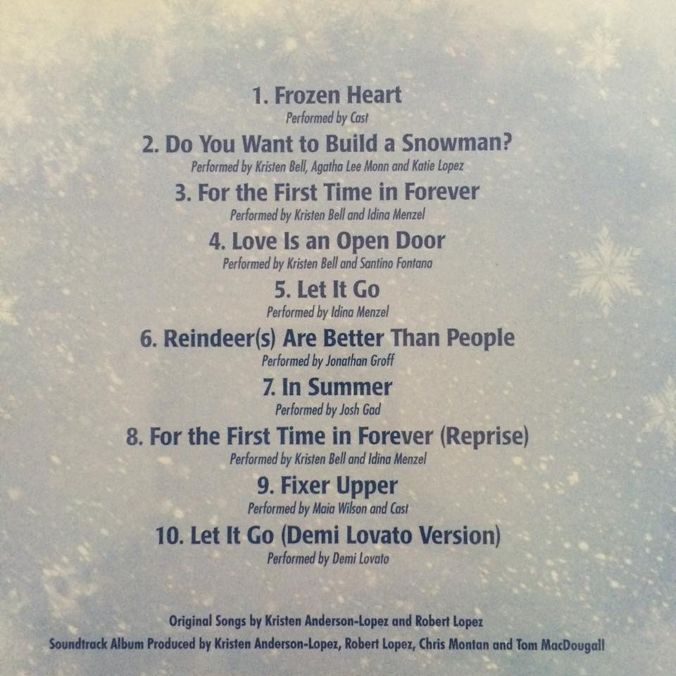 """disney """"frozen the songs"""" review and giveaway   disneyways"""