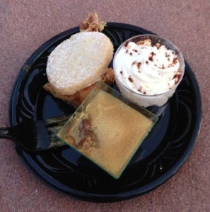 Dessert Party Offerings: Shortbread cookie, Pot de Créme, and Tiramisu