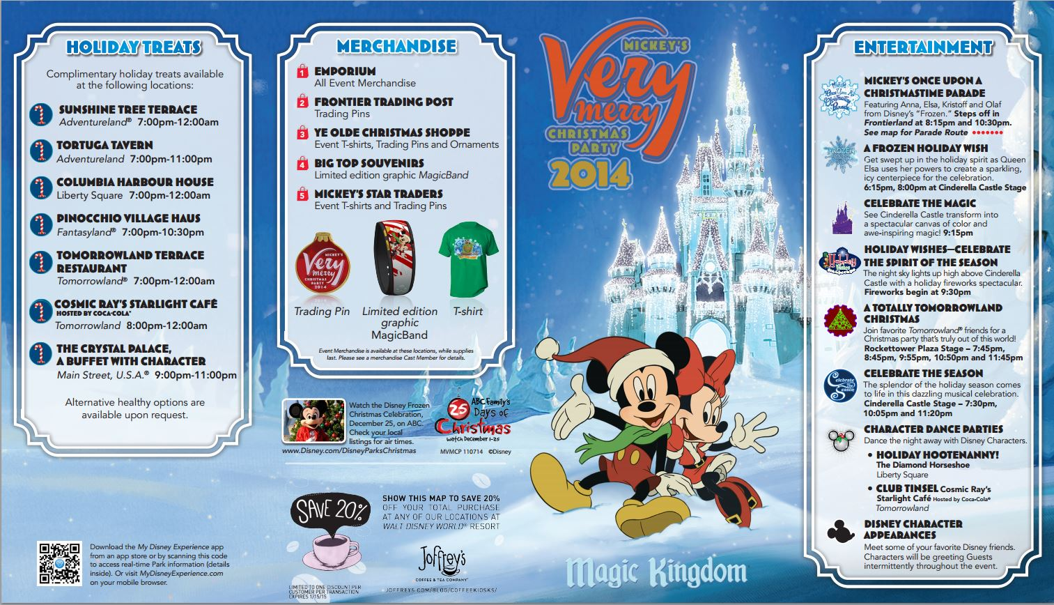 mickeys very merry christmas party 2014 map information and ticket pricing click the images to enlarge this information is accurate as of november 5 - Mickeys Christmas Party Tickets