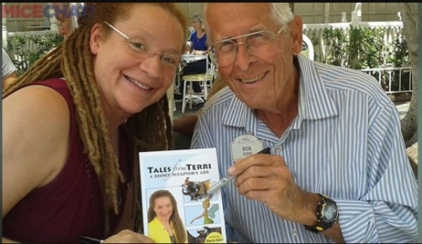 Terri with her book and Disney Legend Bob Gurr! Bob won't be attending the lunch. Photo Credit MiceChat.com